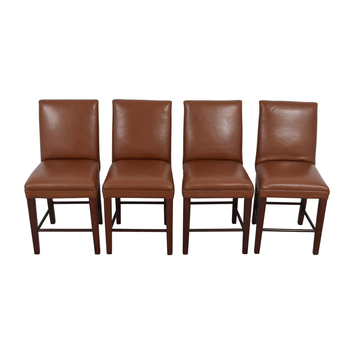 Cognac Leather Dining Chairs on sale