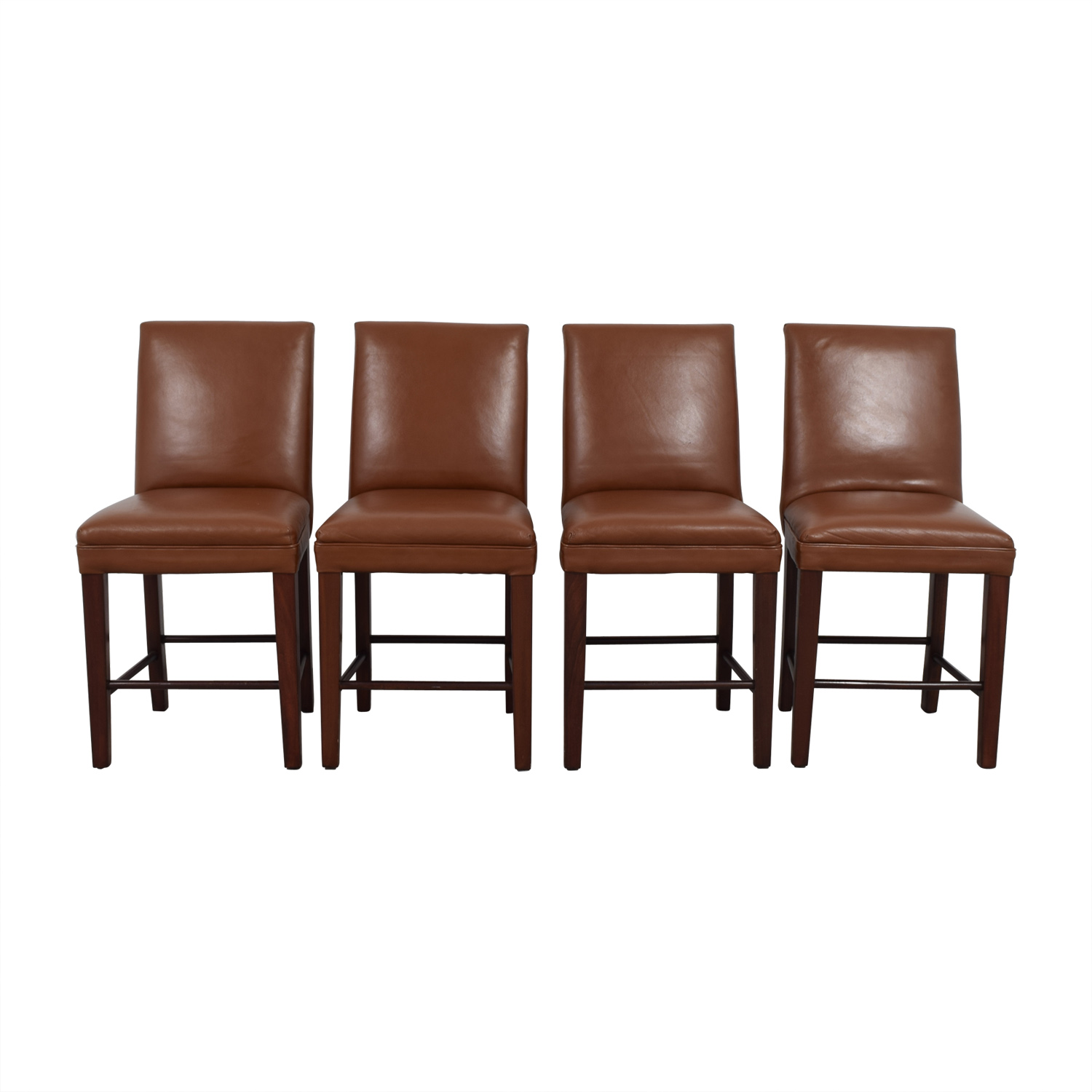 Cognac Leather Dining Chairs sale