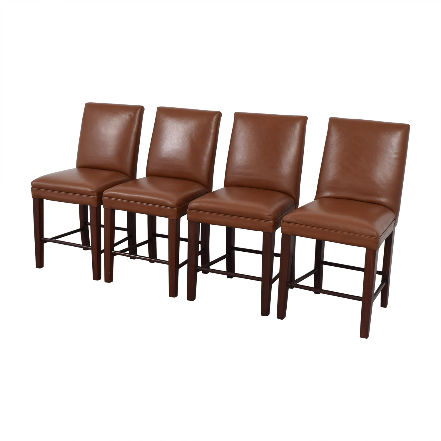 Cognac Leather Dining Chairs dimensions
