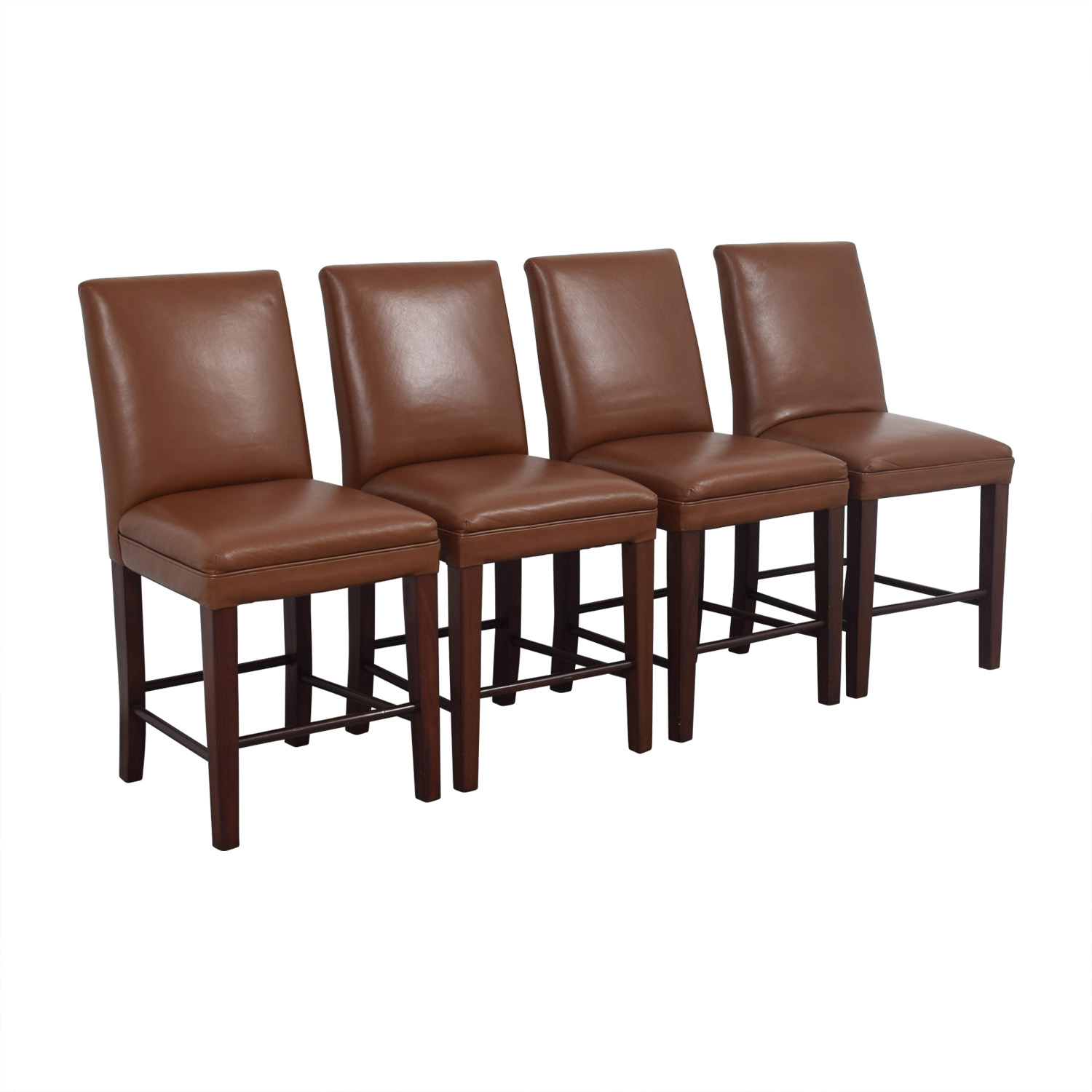 Cognac Leather Dining Chairs Brown