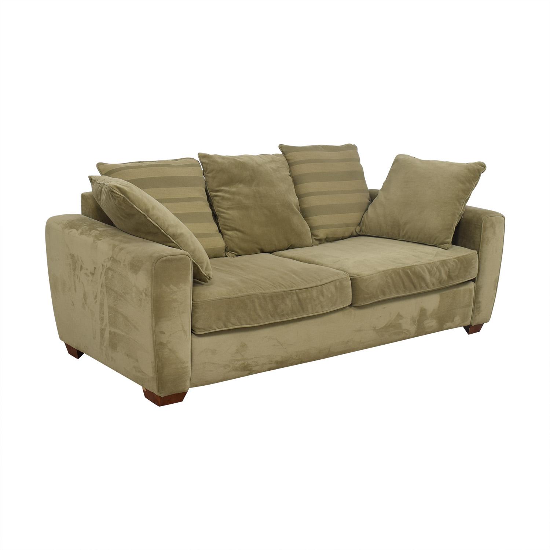 buy Jennifer Furniture Tan Two-Cushion Sofa Jennifer Furniture Classic Sofas