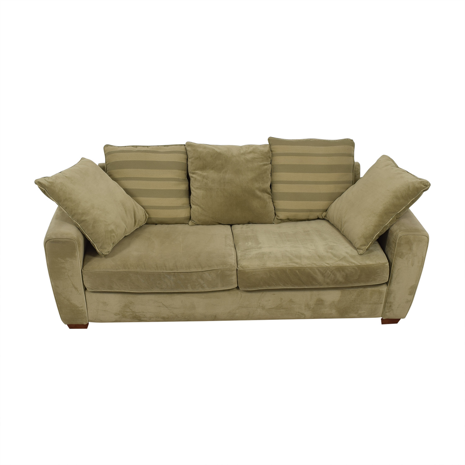 Jennifer Furniture Jennifer Furniture Tan Two-Cushion Sofa Classic Sofas