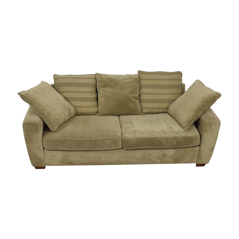 Jennifer Furniture Jennifer Furniture Tan Two-Cushion Sofa dimensions