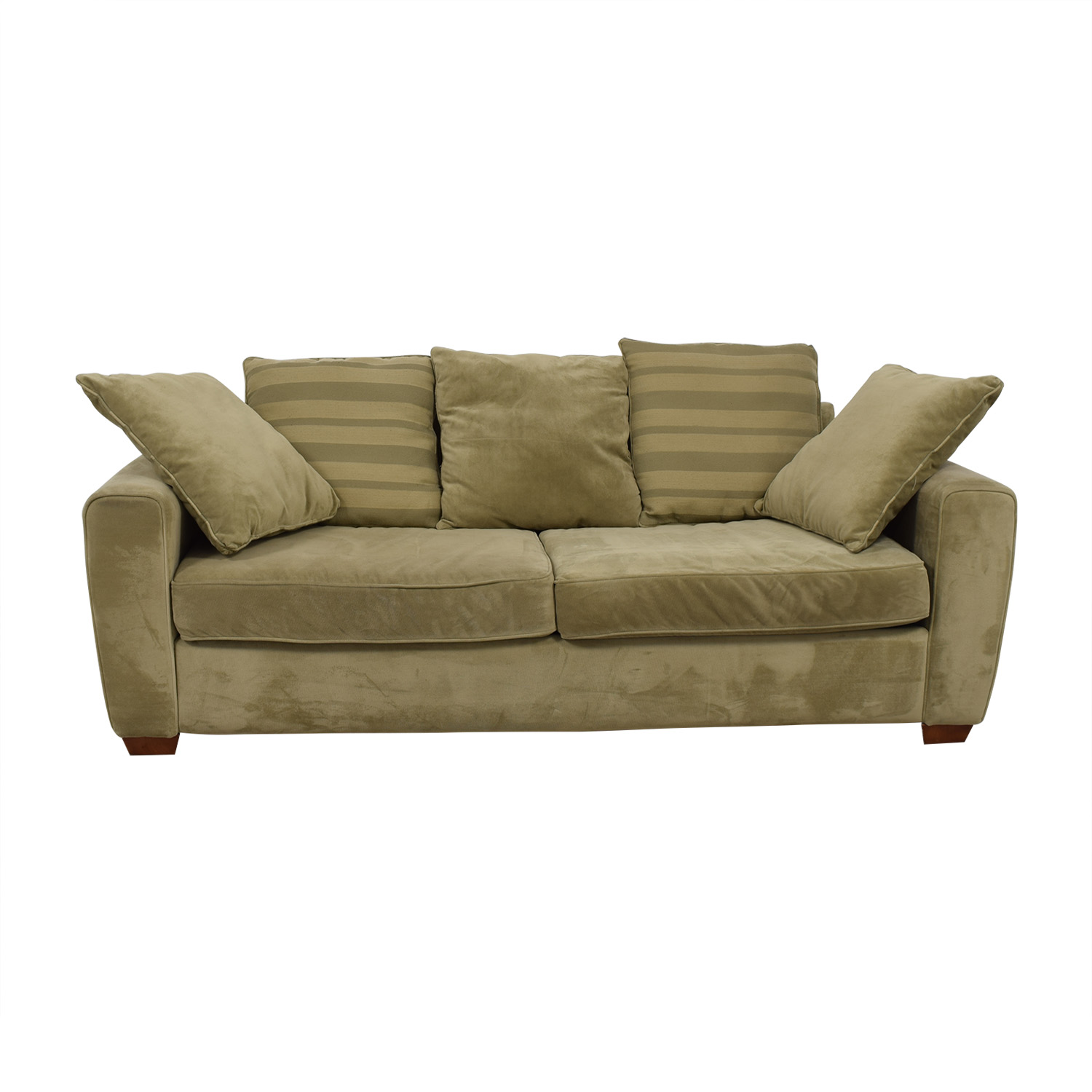 Jennifer Furniture Jennifer Furniture Tan Two-Cushion Sofa nj