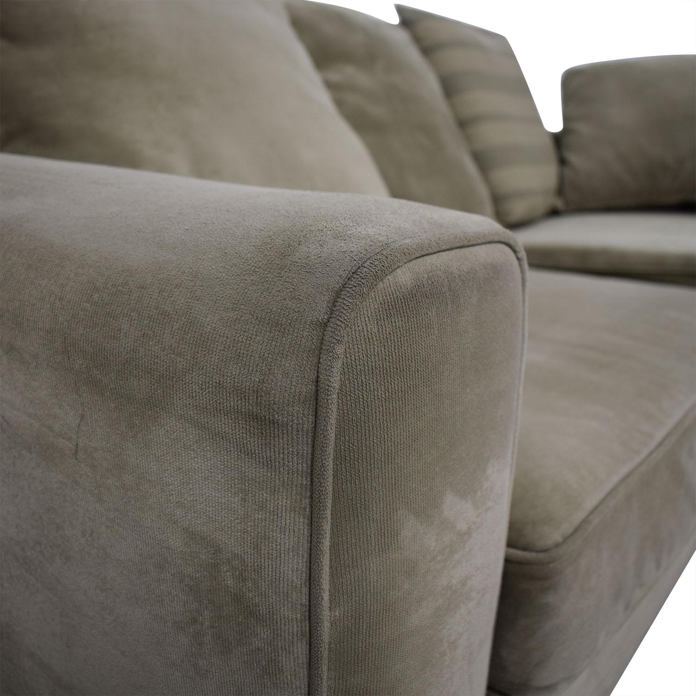 Jennifer Furniture Jennifer Furniture Tan Two-Cushion Sofa nj