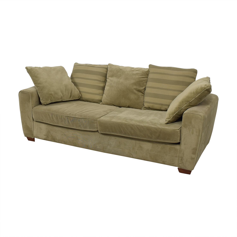 Jennifer Furniture Jennifer Furniture Tan Two-Cushion Sofa on sale