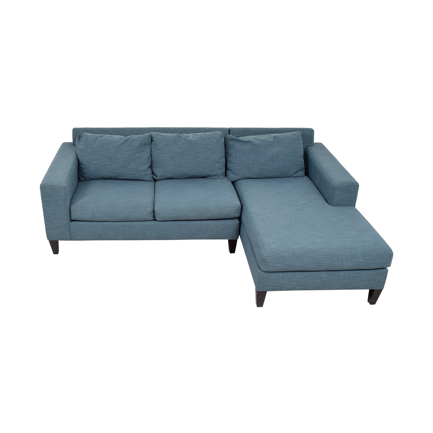 32% OFF - West Elm West Elm York Blue Chaise Sectional / Sofas Chaise Longue York on chaise recliner chair, chaise sofa sleeper, chaise furniture,