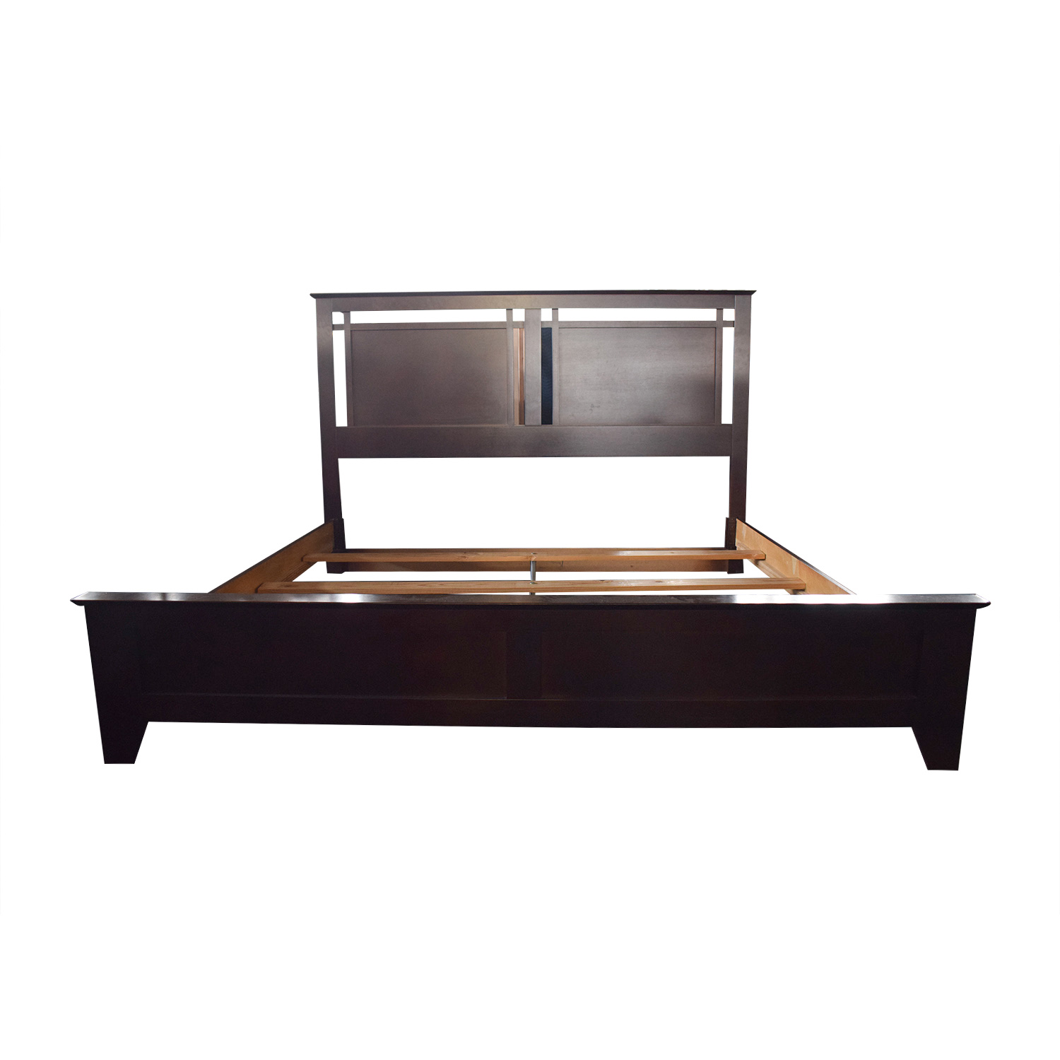 shop Wood King Bed Frame
