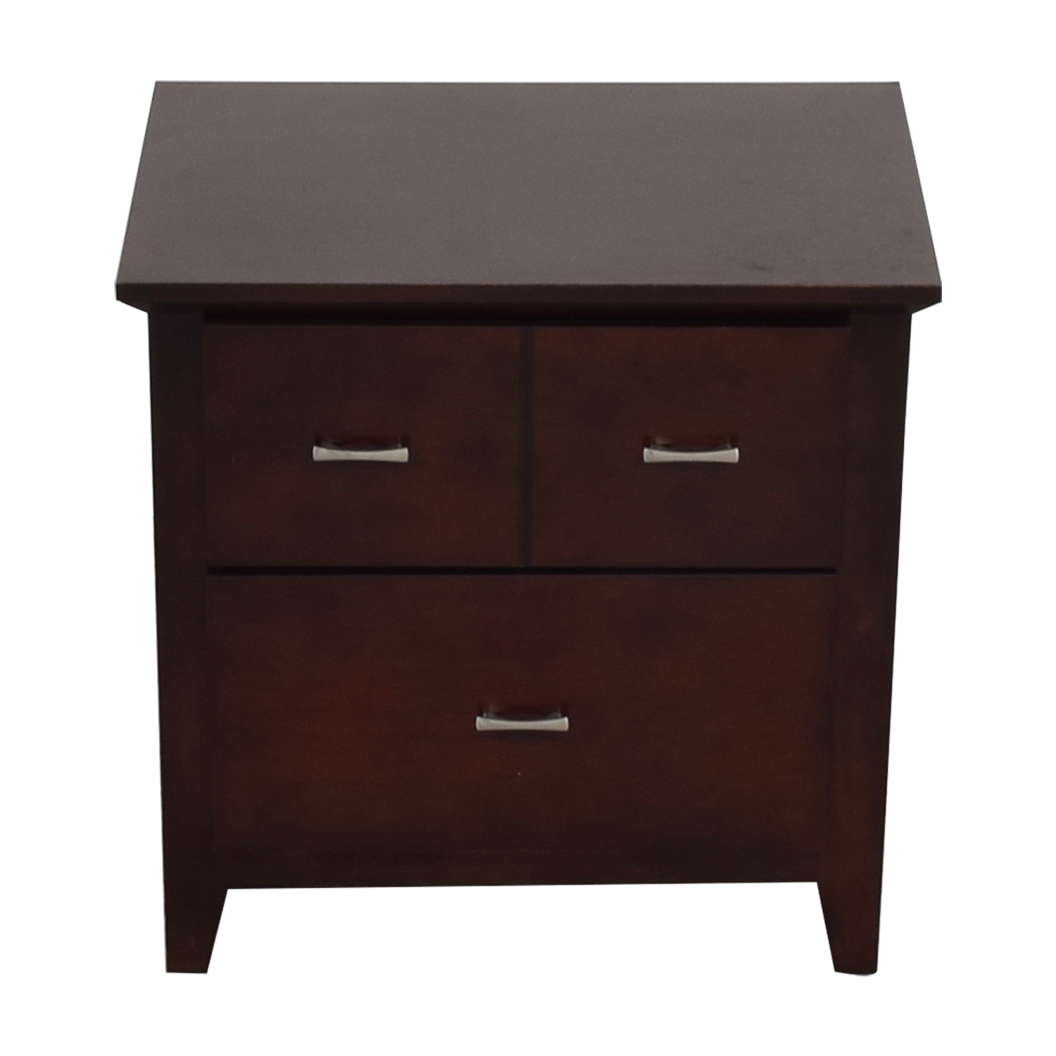 Wood Two-Drawer End Table Cherry