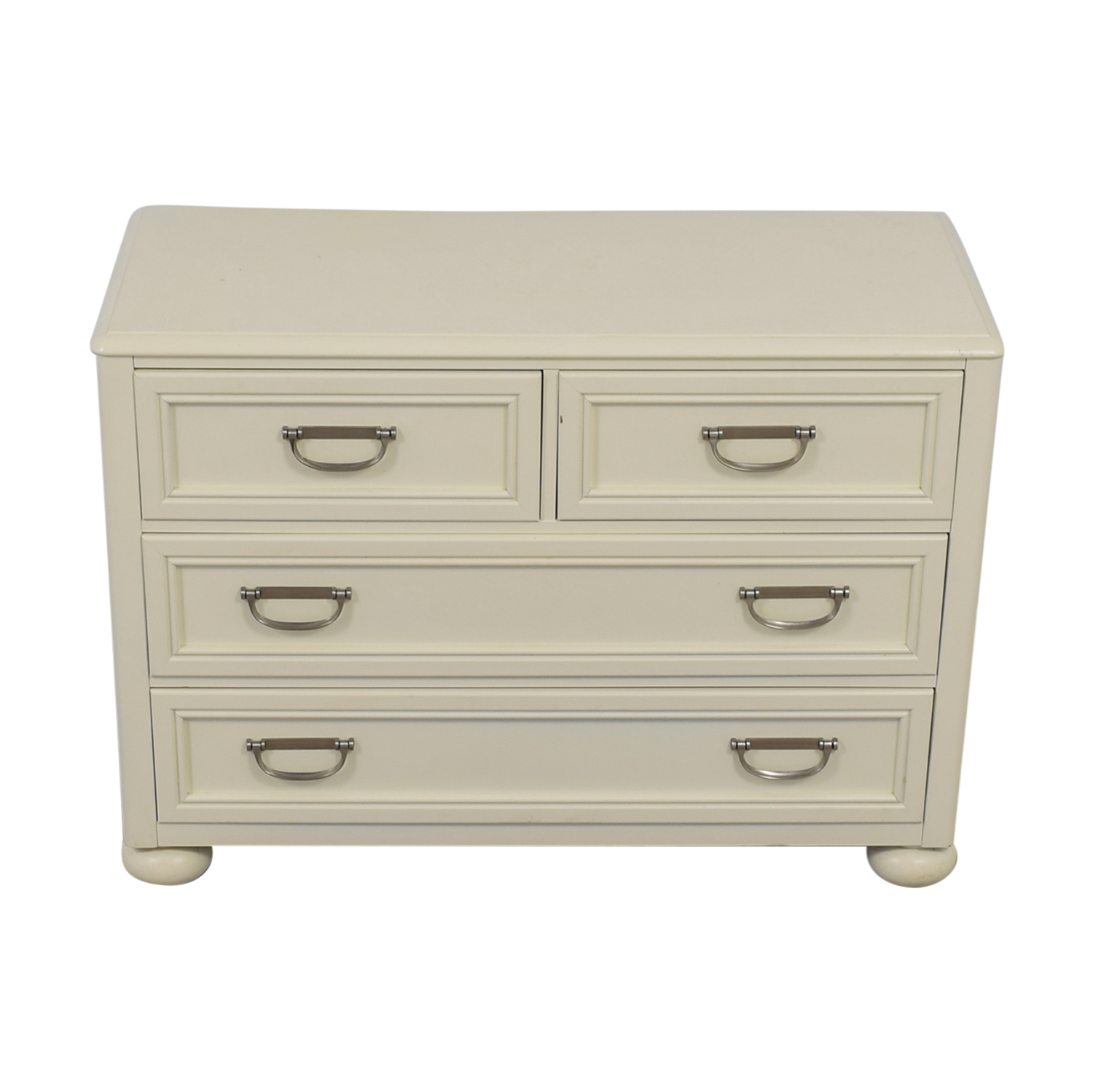 White Four-Drawer Dresser white