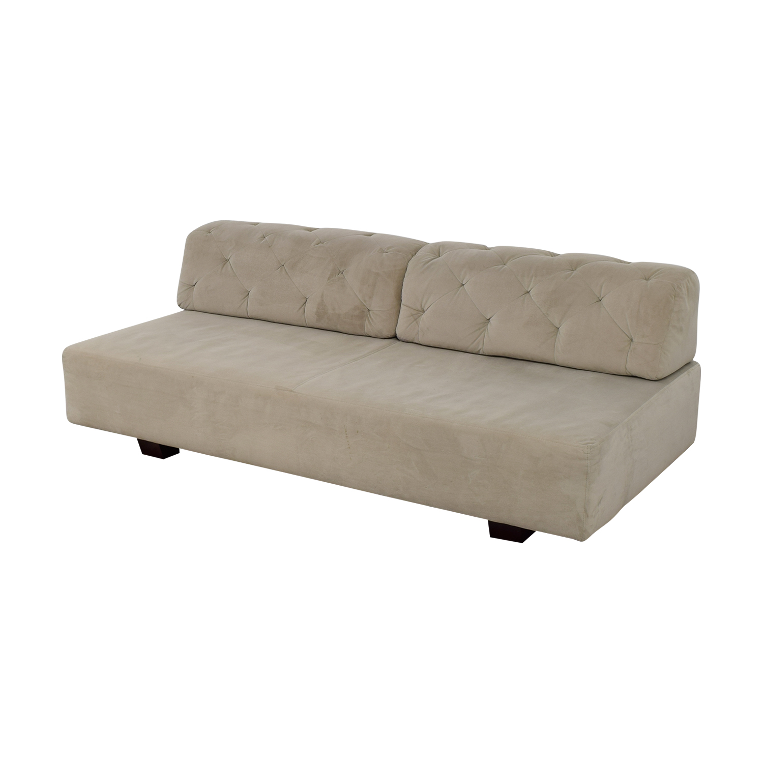 West Elm West Elm Beige Tuffed Sofa
