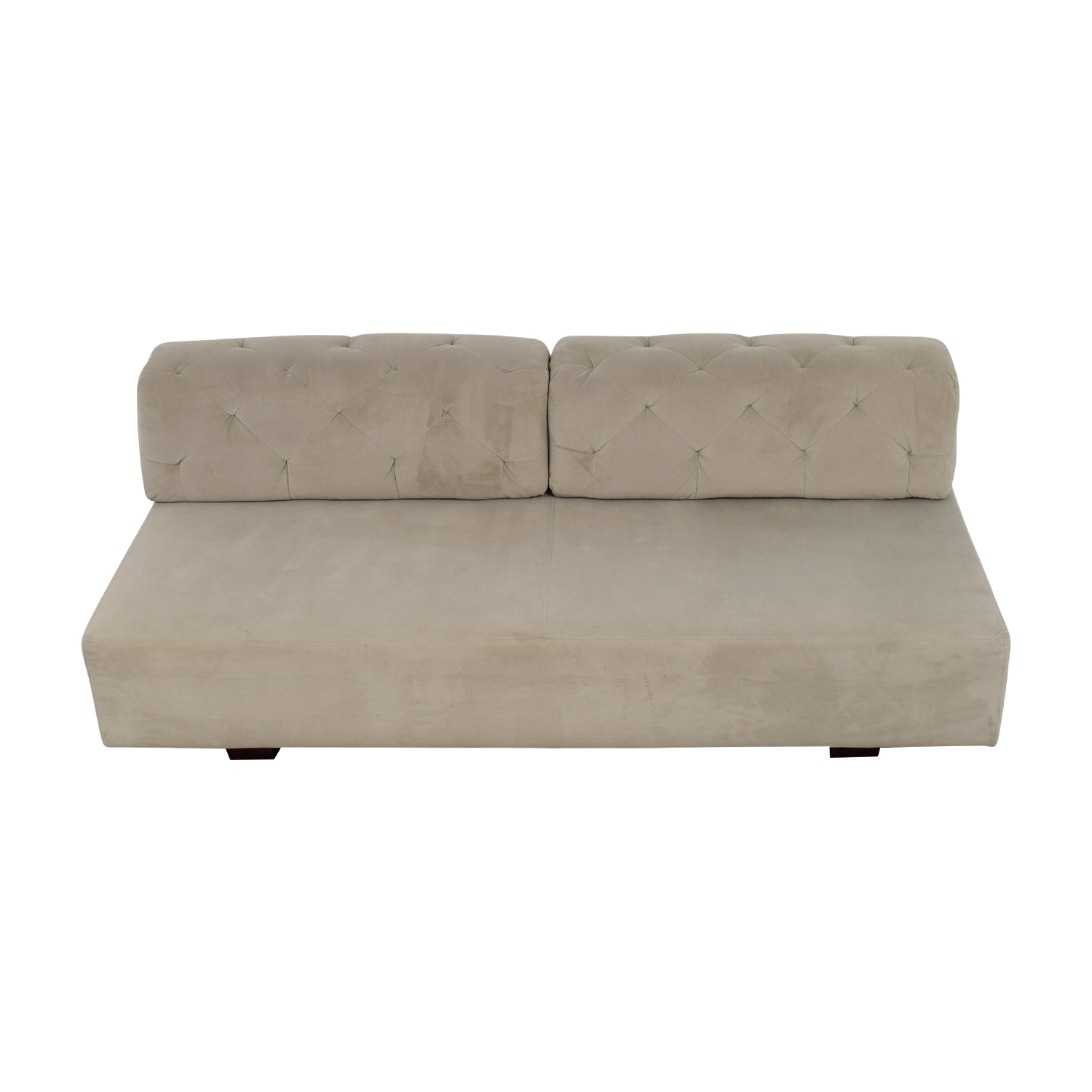 West Elm West Elm Beige Tuffed Sofa discount