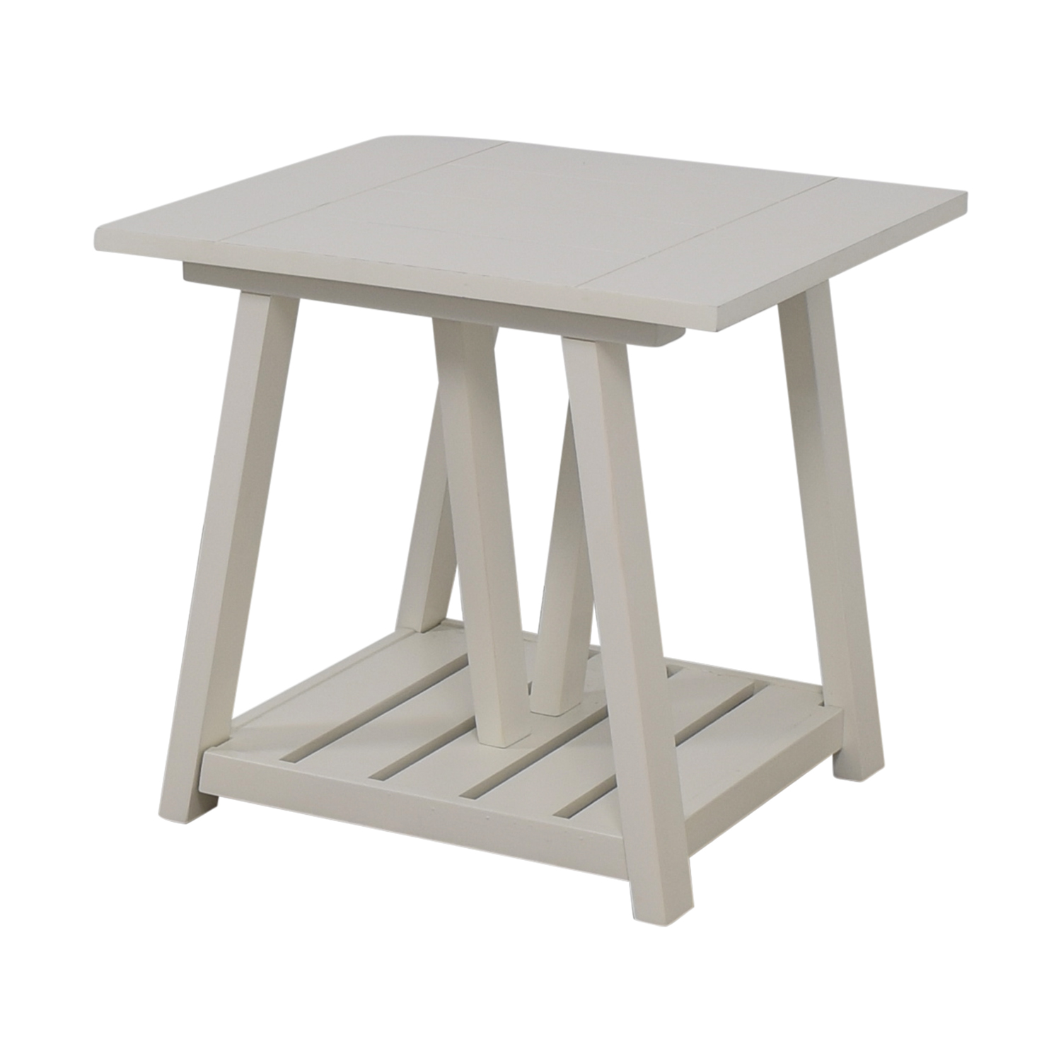 shop Birch Lane Fairborne White Side Table Birch Lane Tables