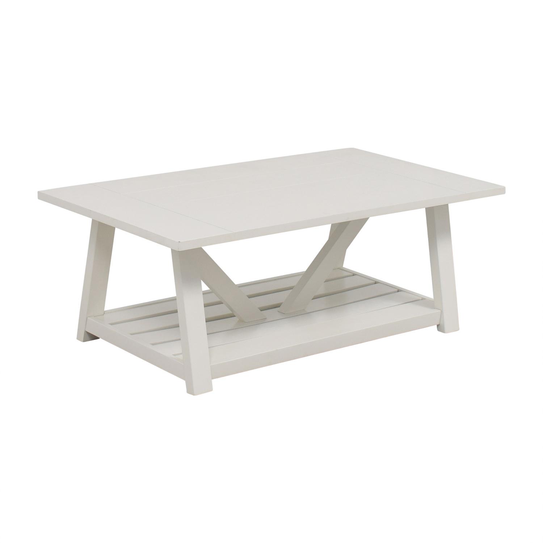 buy Birch Lane Fairborne White Coffee Table Birch Lane Tables