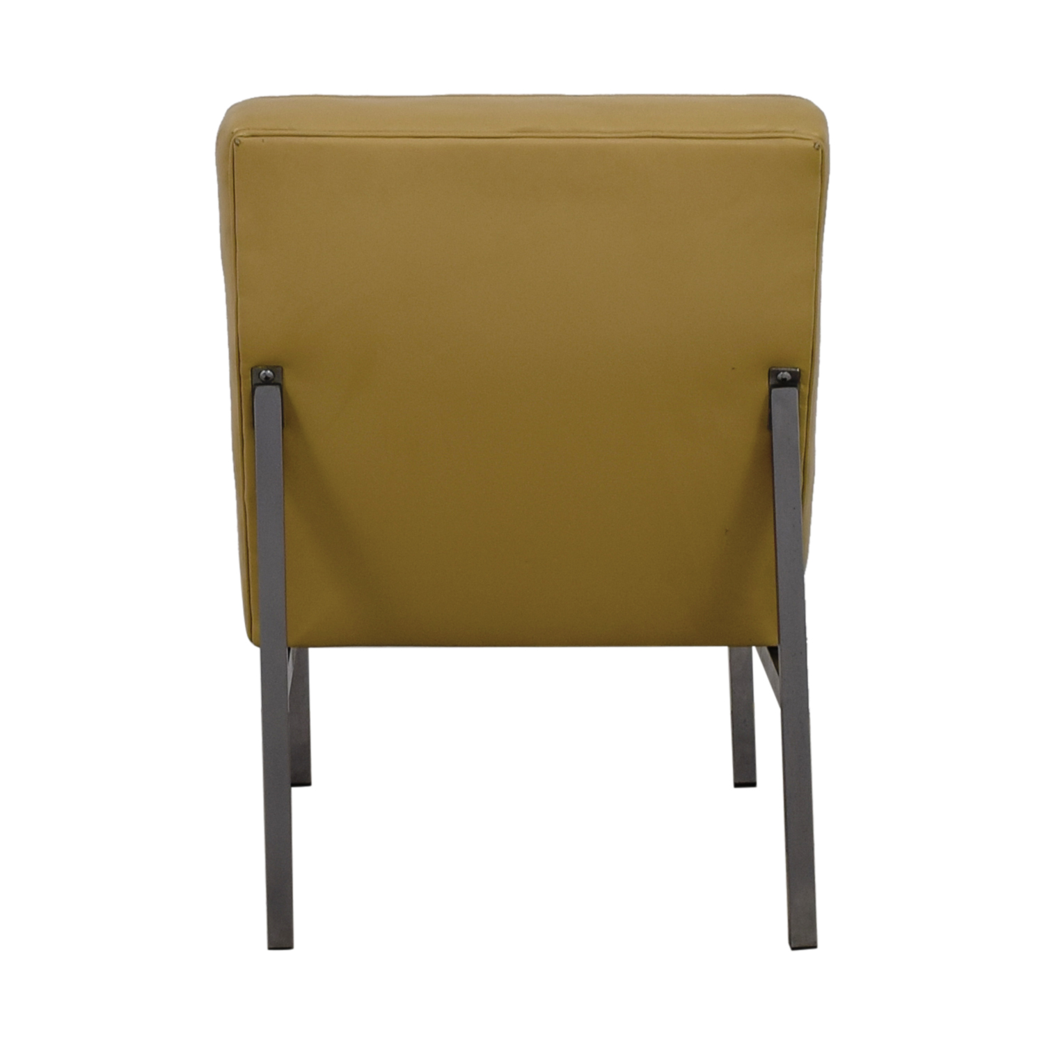 Knoll Beige Leather Chaise Accent Chair / Chairs