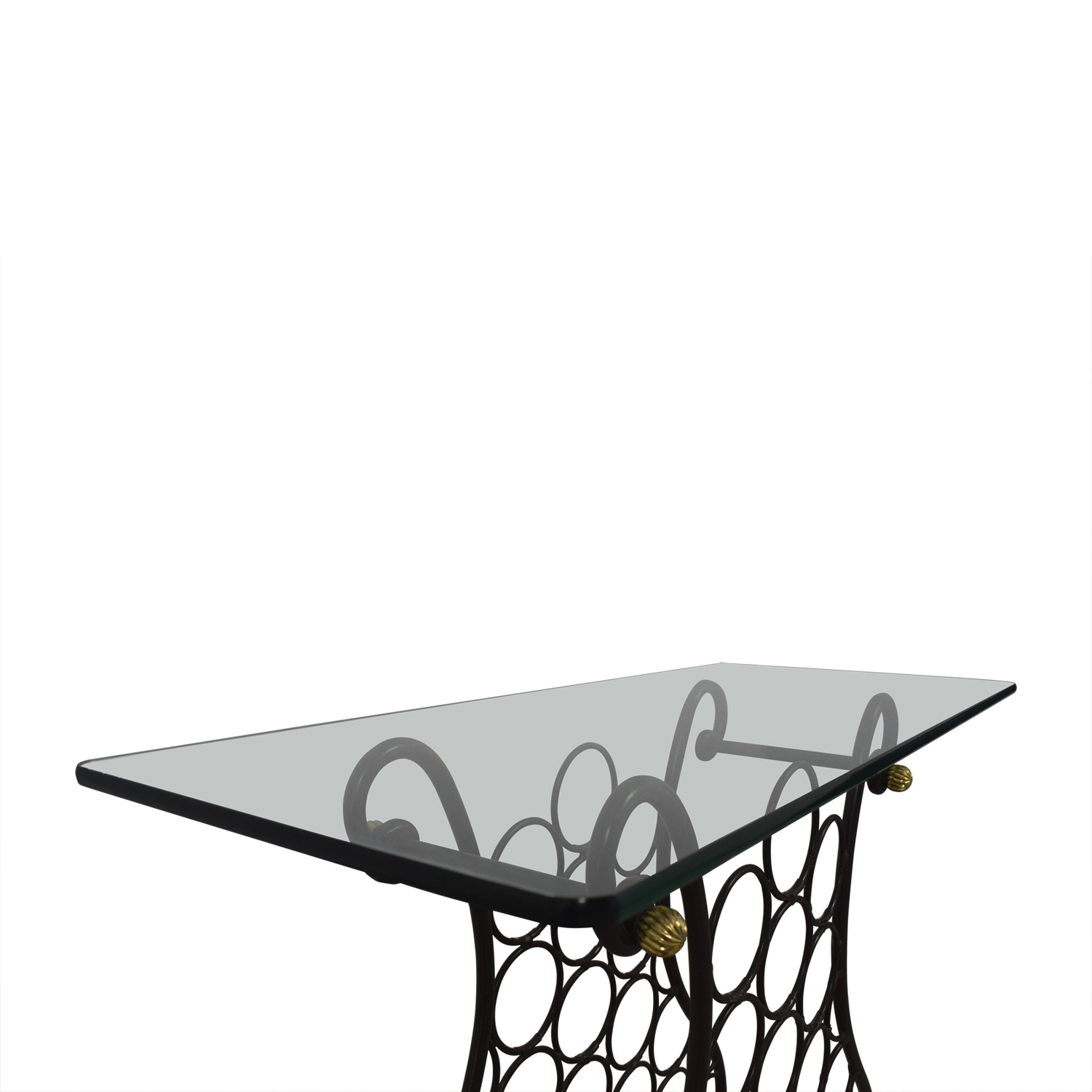 Glass Wine Console Table Utility Tables