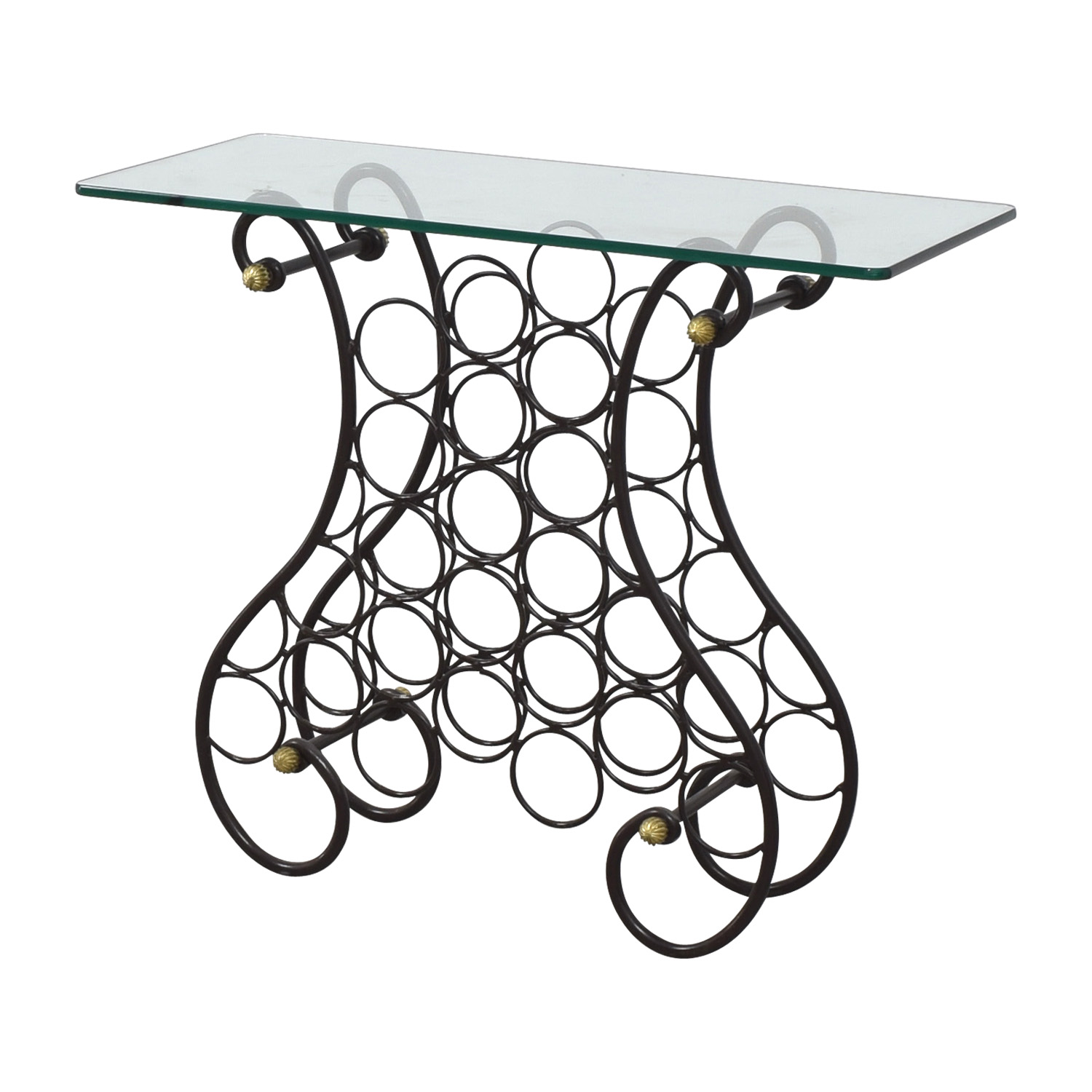 Glass Wine Console Table