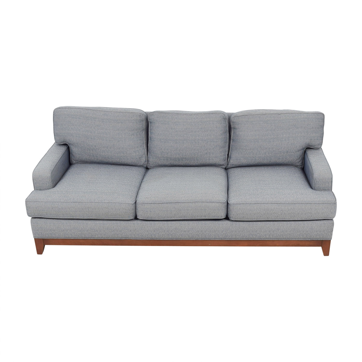 ... Ethan Allen Ethan Allen Blue Three Cushion Couch For Sale ...
