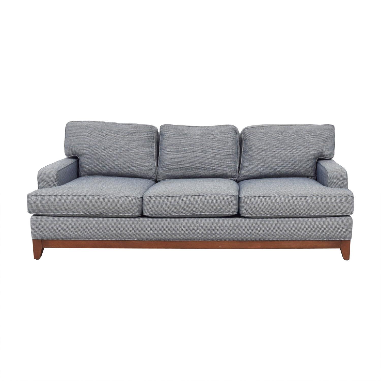 Ethan Allen Blue Three-Cushion Couch Ethan Allen