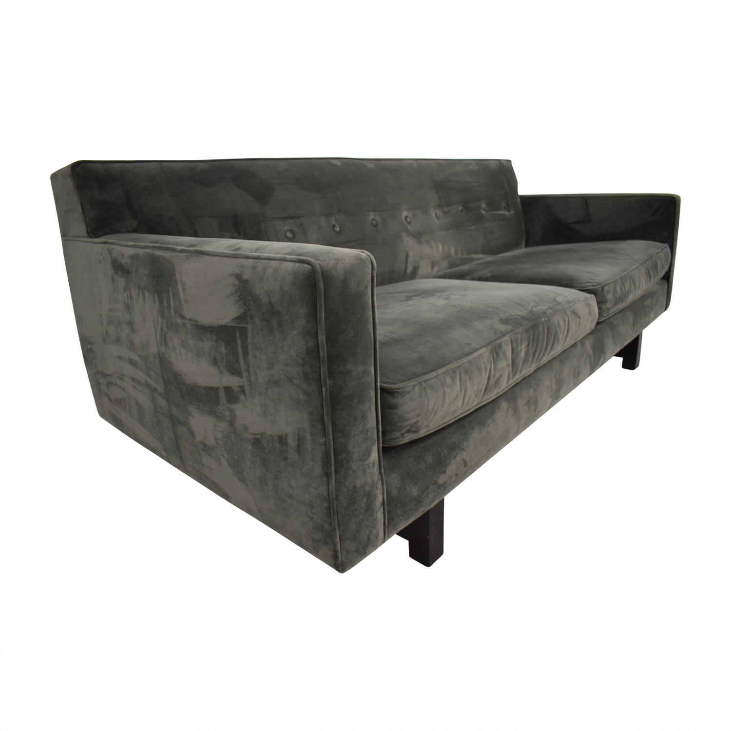 buy Room & Board Andre Pewter Two-Cushion Sofa Room & Board