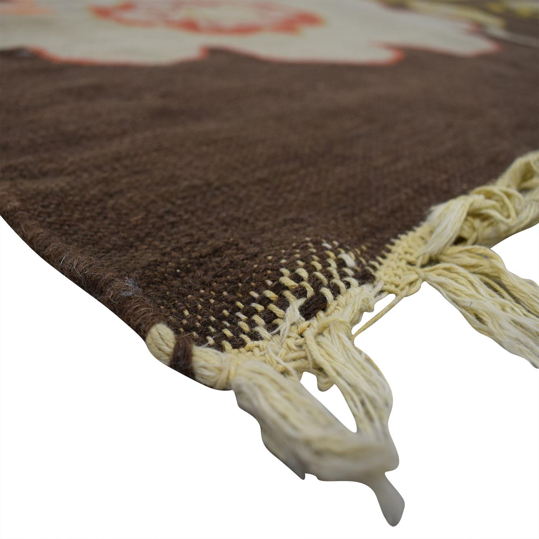 ABC Carpet & Home ABC Carpet & Home Brown Floral Rug nyc