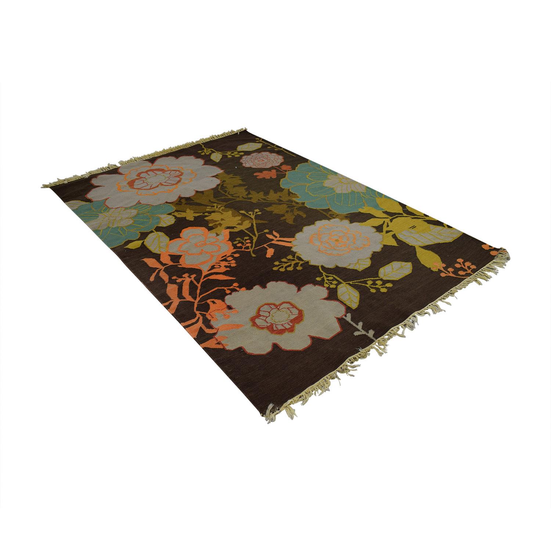 ABC Carpet & Home ABC Carpet & Home Brown Floral Rug price