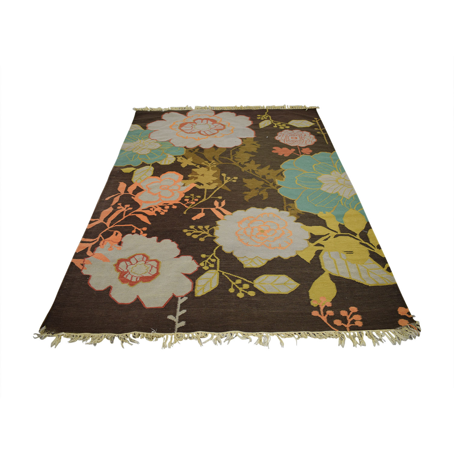 buy ABC Carpet & Home Brown Floral Rug ABC Carpet & Home Rugs
