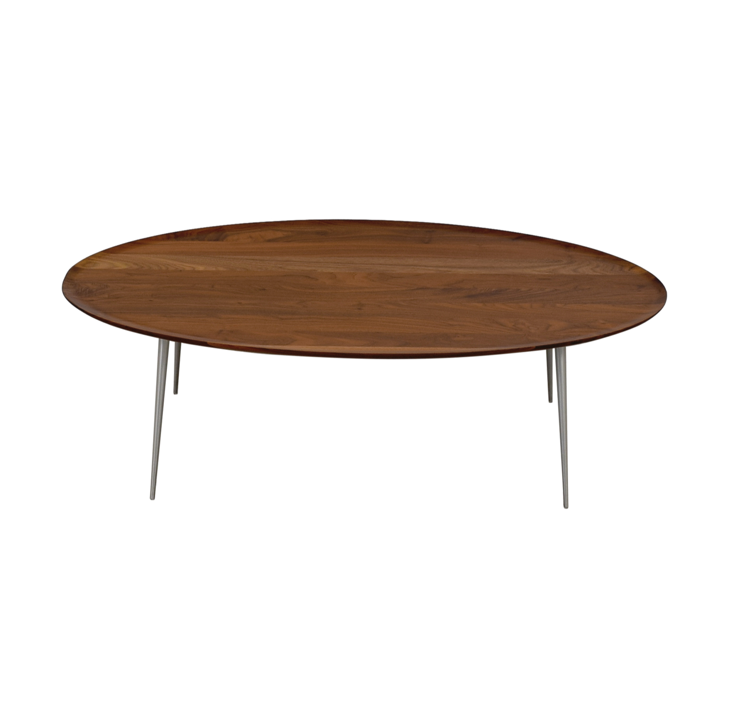 Room & Board Room & Board Bailey Walnut Oval Cocktail Table dimensions
