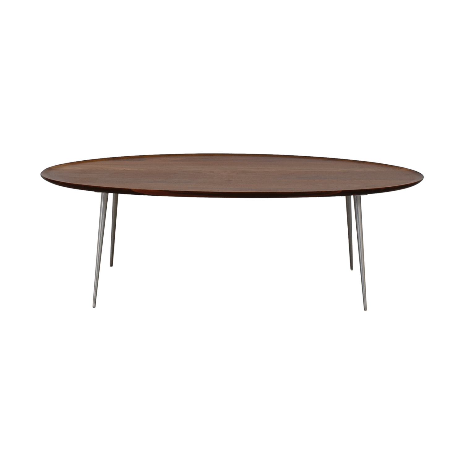 buy Room & Board Bailey Walnut Oval Cocktail Table Room & Board Tables