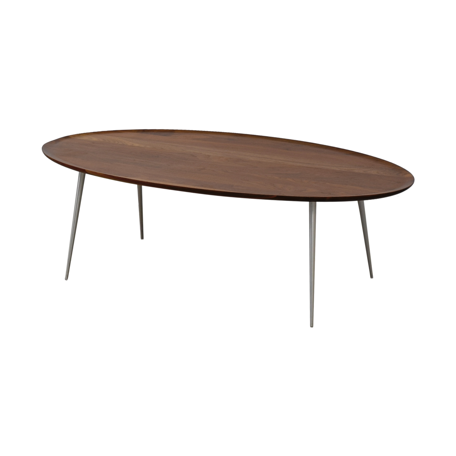 Room & Board Bailey Walnut Oval Cocktail Table / Tables