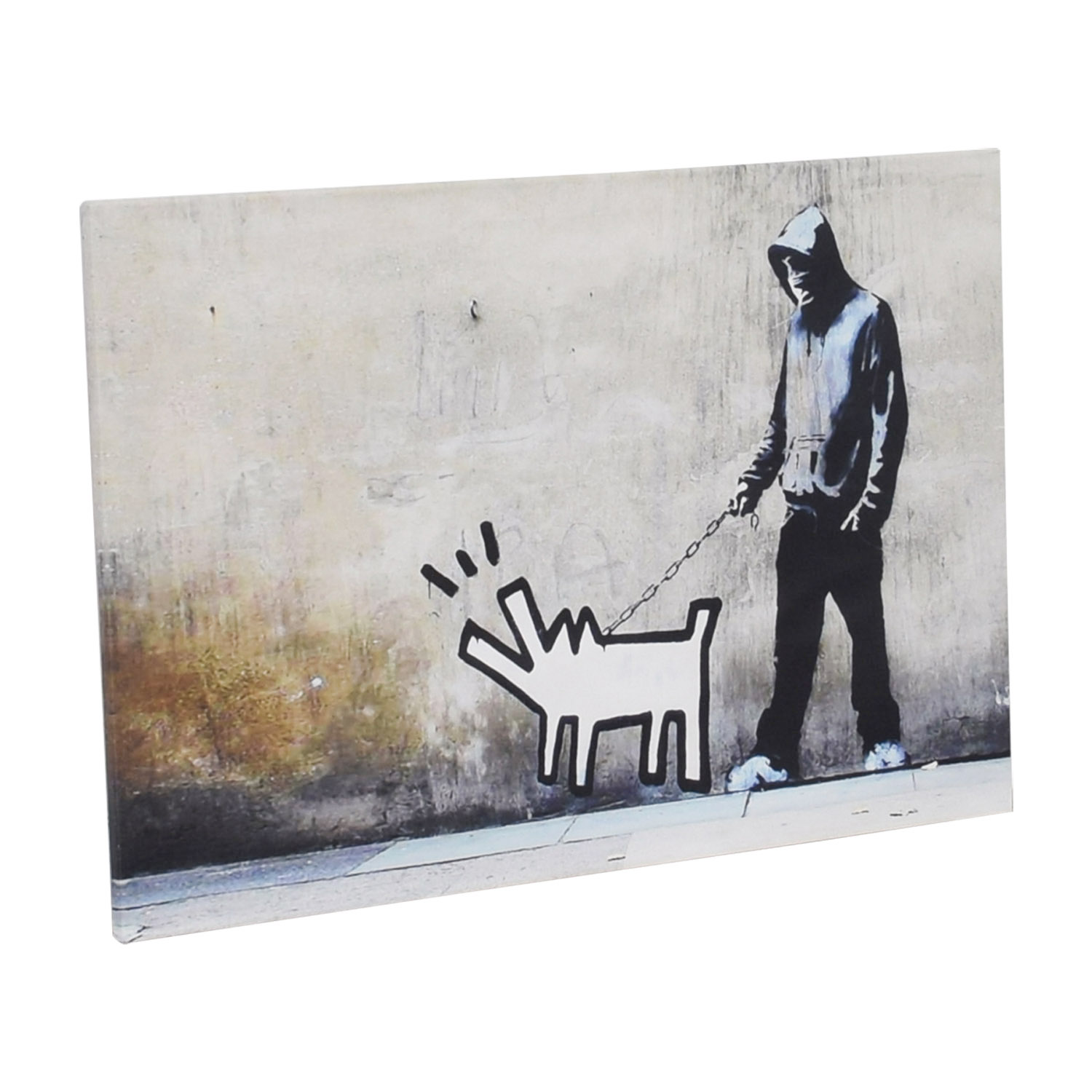 iCanvas iCanvas Bansky Dog Walking Print