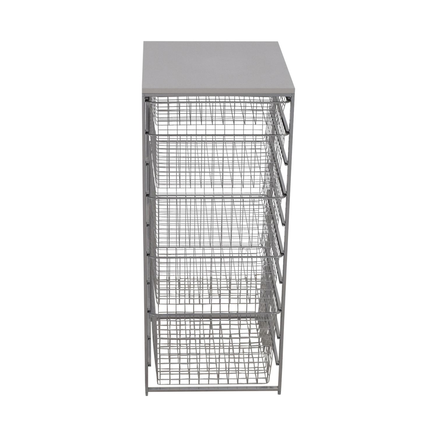 Elfa Elfa Platinum Metal Storage Rack second hand