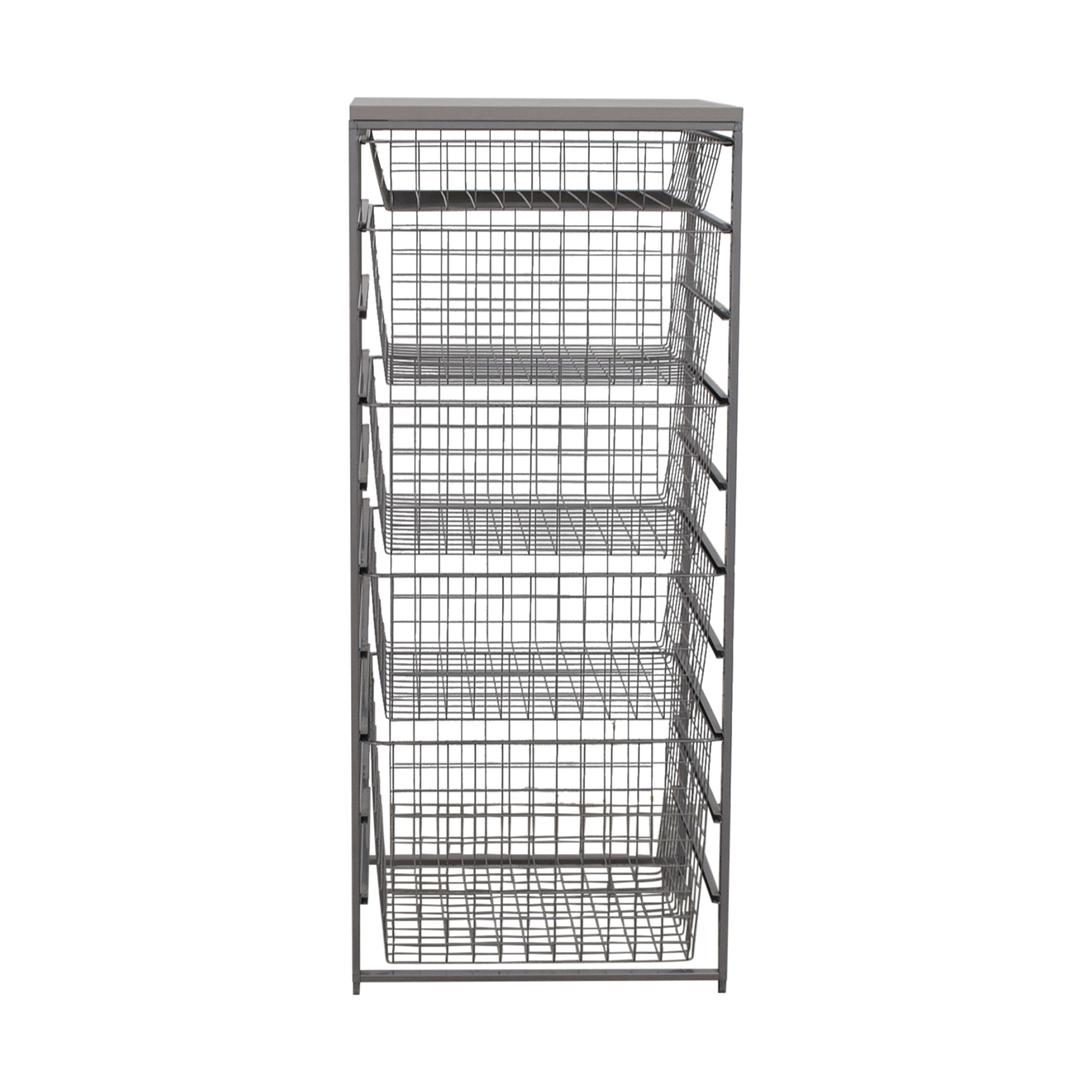 Elfa Elfa Platinum Metal Storage Rack nyc