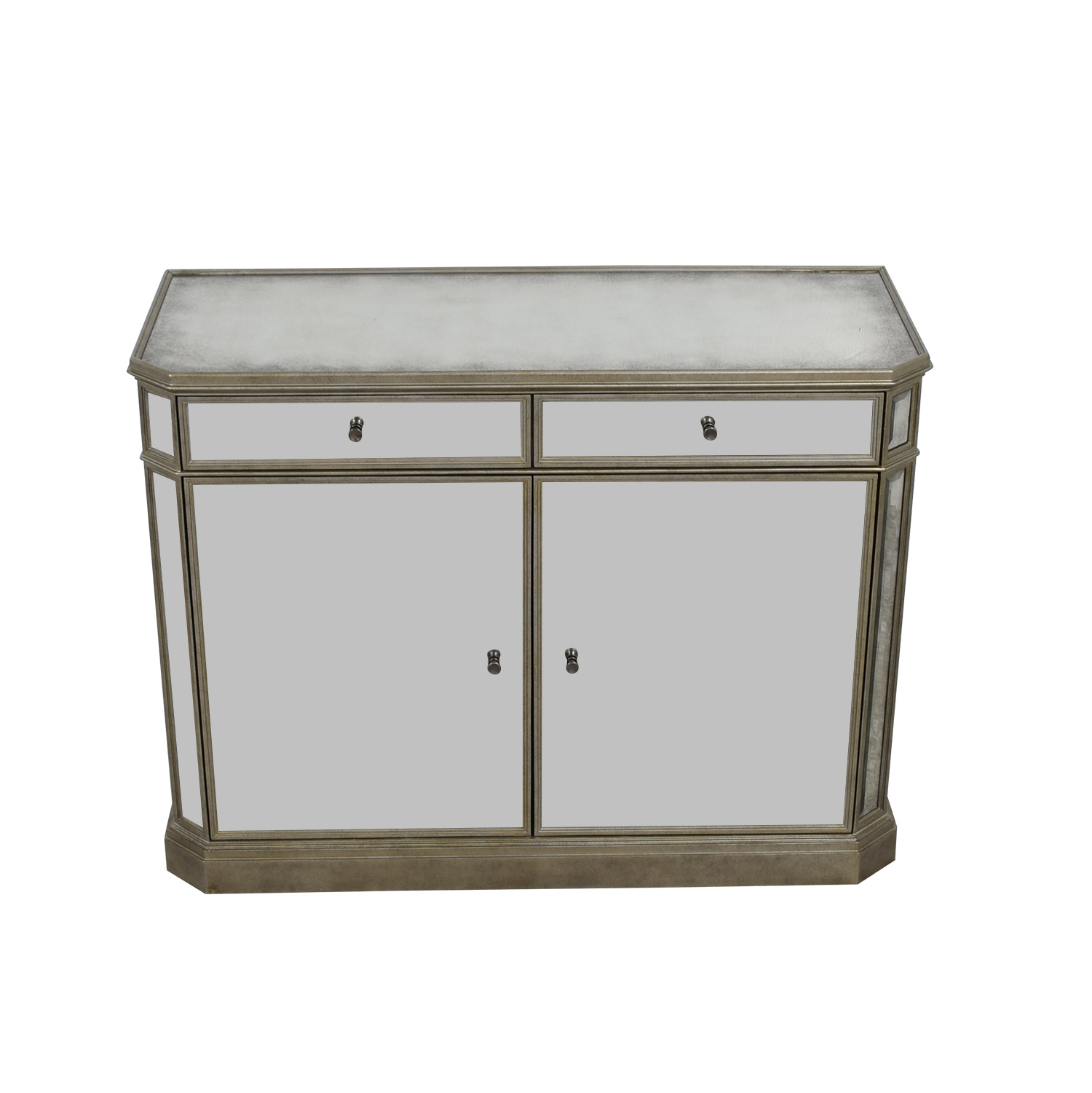 Restoration Hardware Restoration Hardware Mirrored Cabinet on sale
