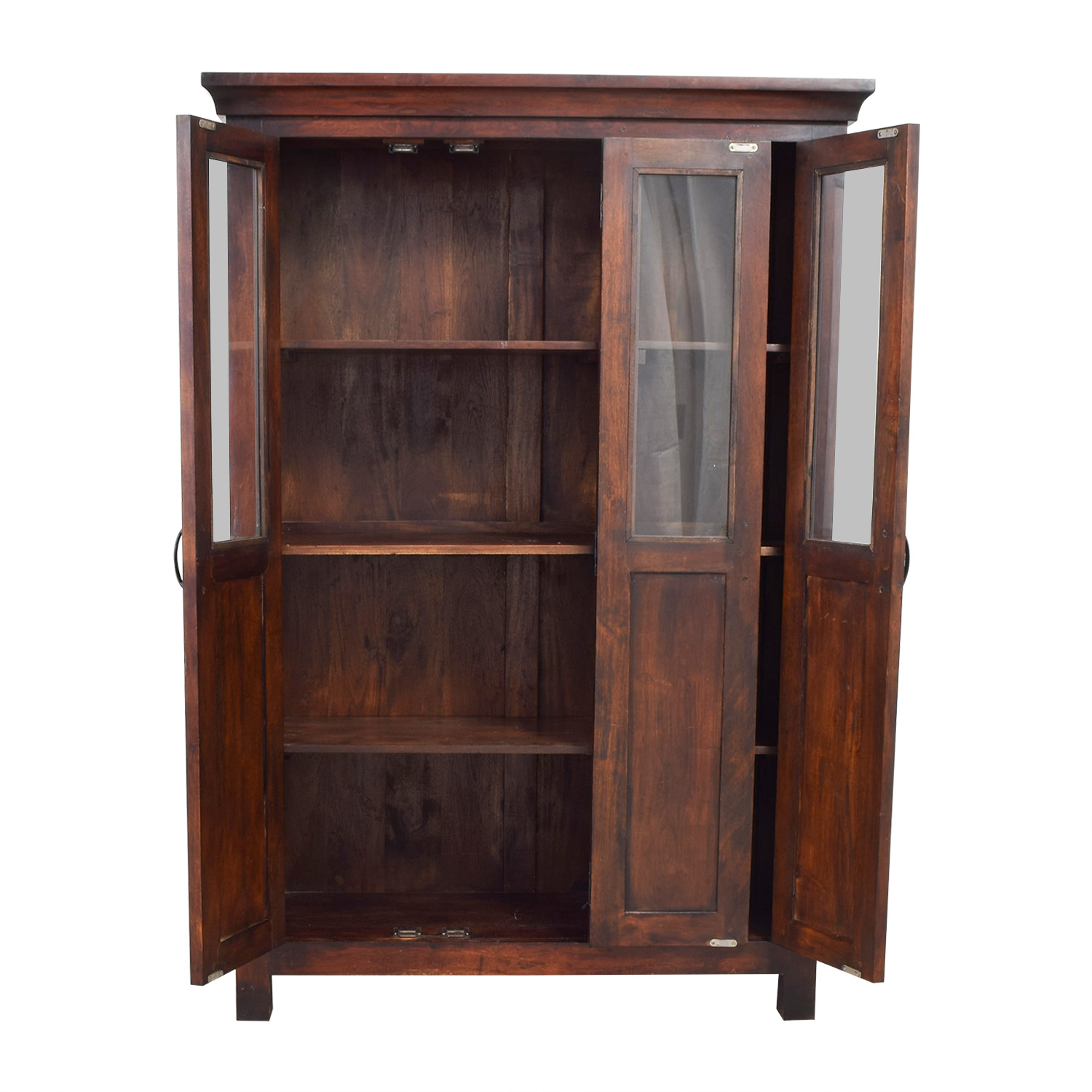 Crate & Barrel Wood China Cabinet / Storage