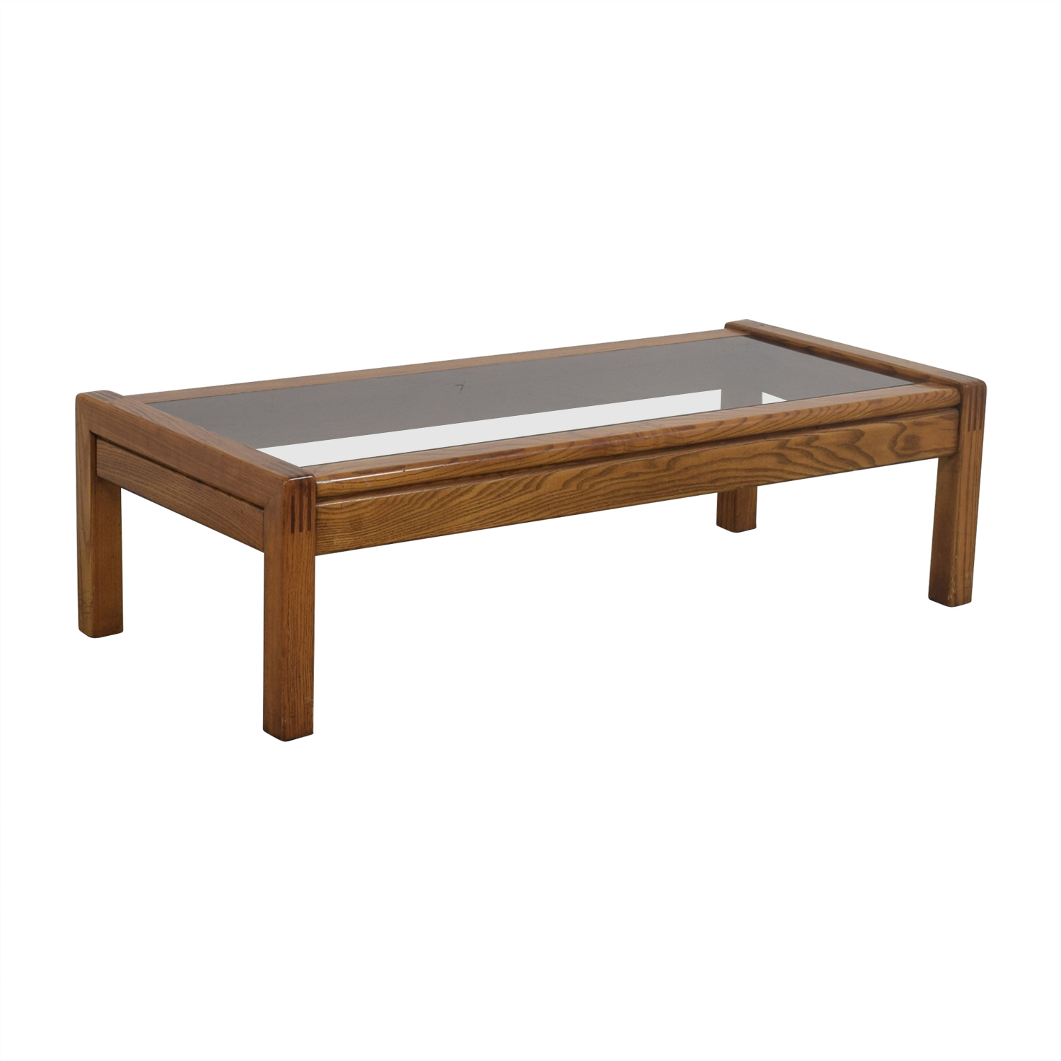 Superb ... Buy Mid Century Glass Topped Oak Coffee Table Online ...