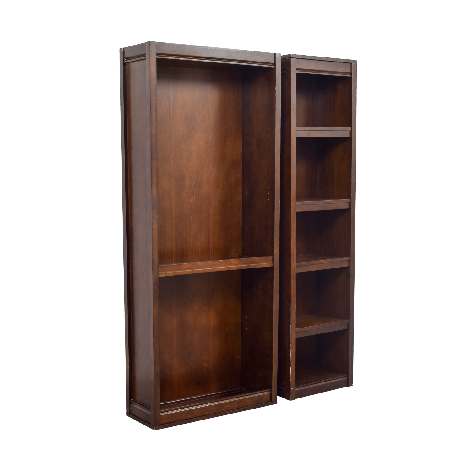 Two Wood Bookcases used