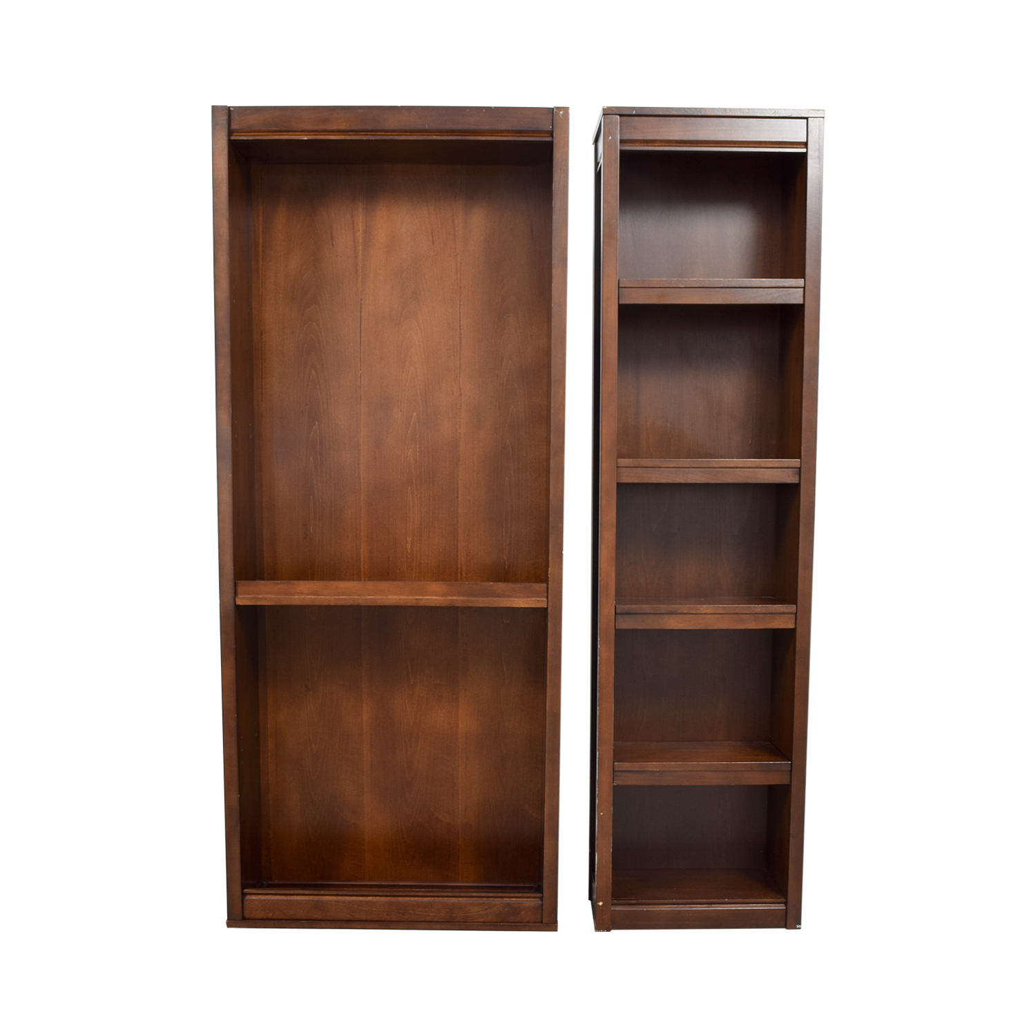 Two Wood Bookcases Bookcases & Shelving