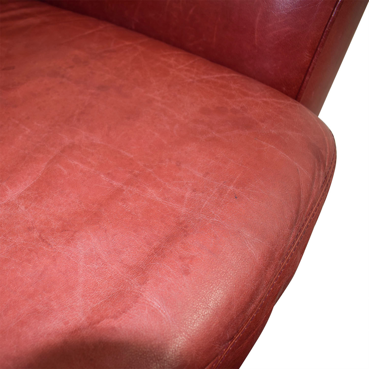 shop Palliser Red Leather Chair and Ottoman Palliser Accent Chairs