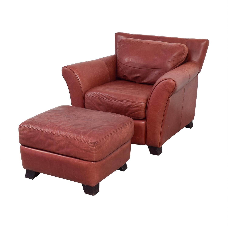 Bon ... Shop Palliser Red Leather Chair And Ottoman Palliser Accent Chairs ...