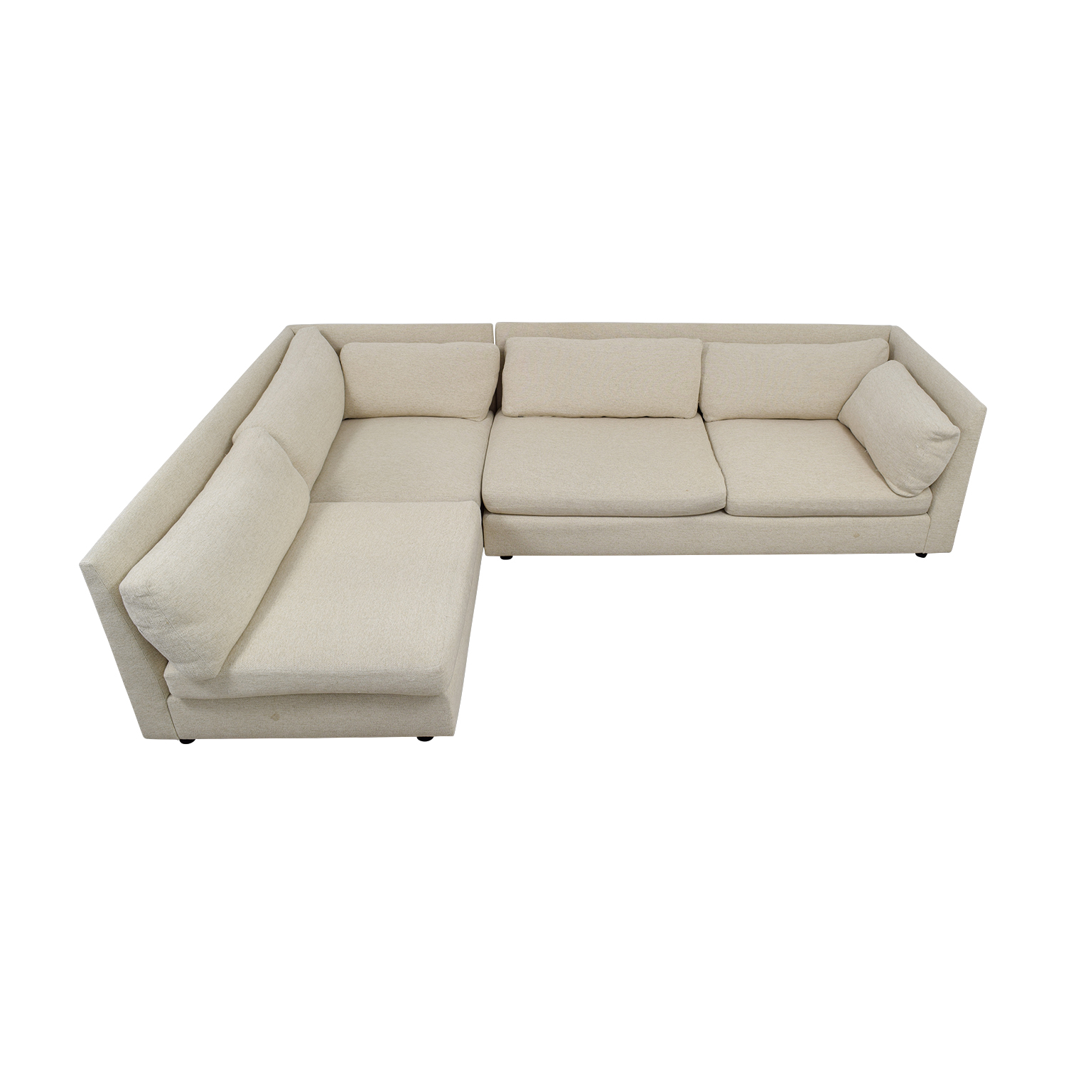 shop Mitchell Gold + Bob Williams Beige L-Shaped Sectional Mitchell Gold + Bob Williams Sofas