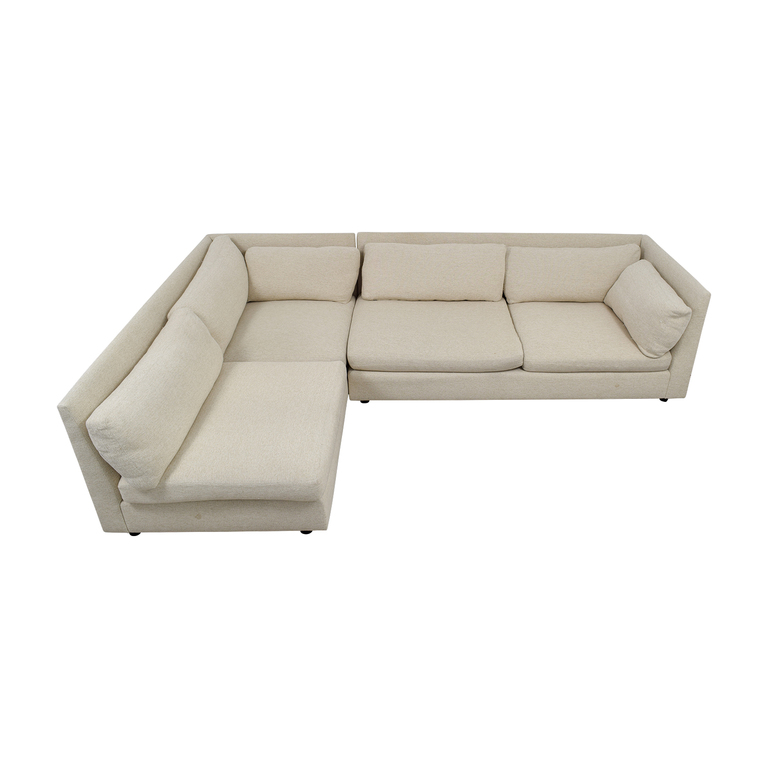 Mitchell Gold + Bob Williams Mitchell Gold + Bob Williams Beige L-Shaped Sectional used