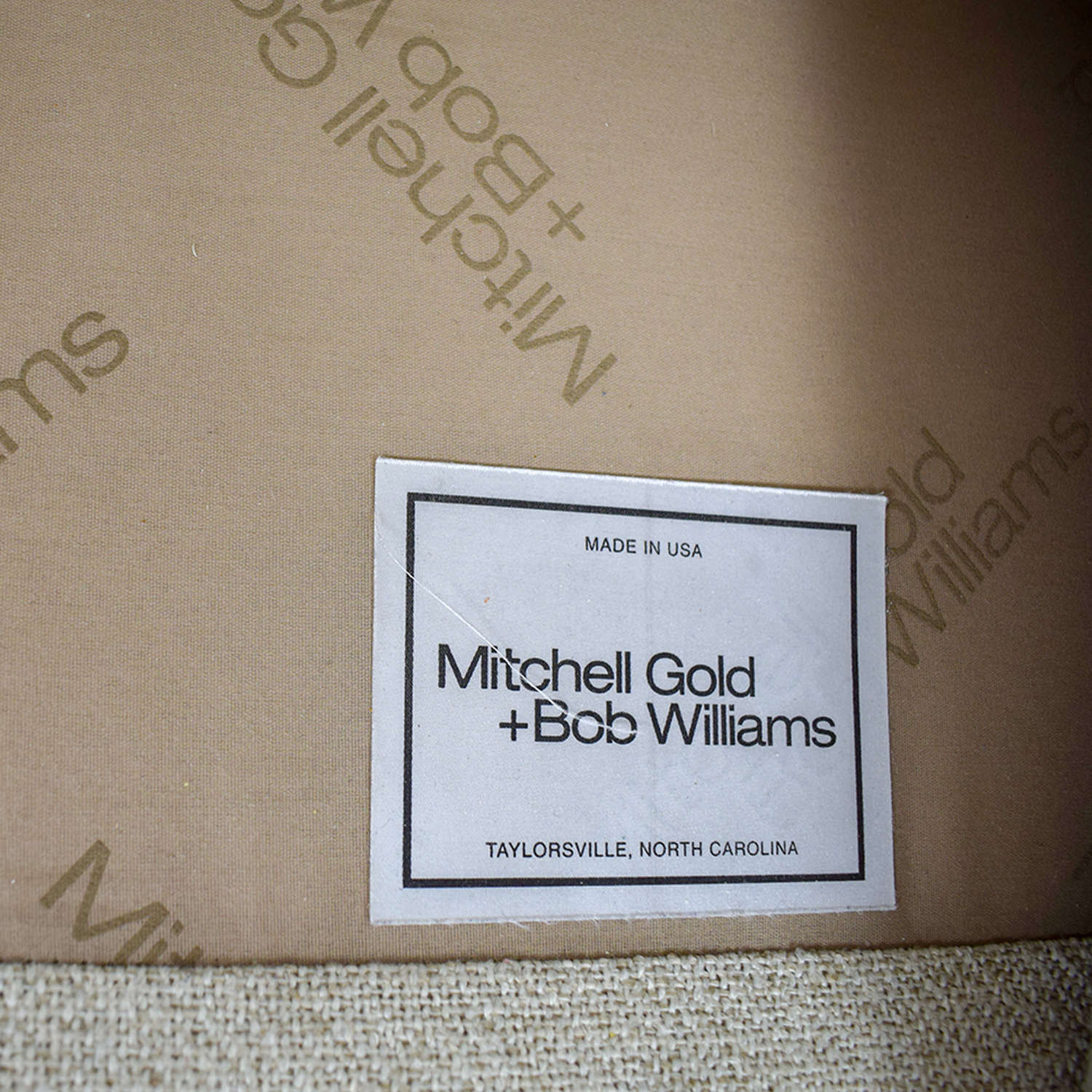 Mitchell Gold + Bob Williams Mitchell Gold + Bob Williams Beige L-Shaped Sectional nj
