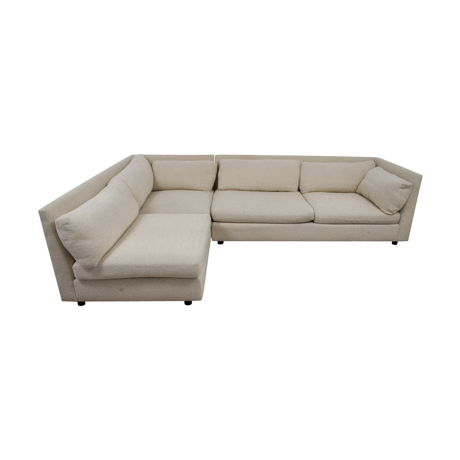 Mitchell Gold + Bob Williams Beige L-Shaped Sectional sale