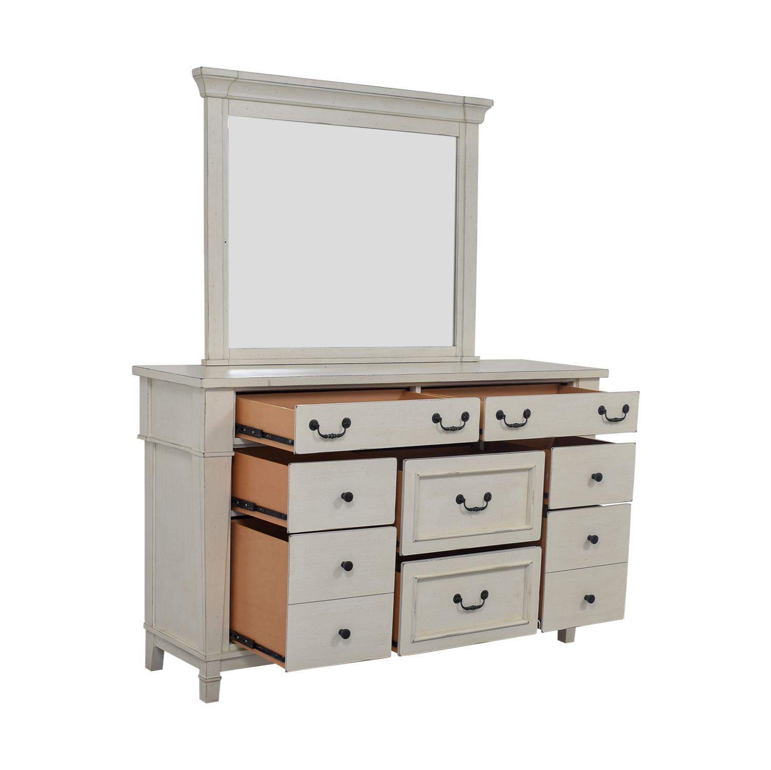 Kaiser Furniture Kaiser Furniture White Eight-Drawer Dresser and Mirror white