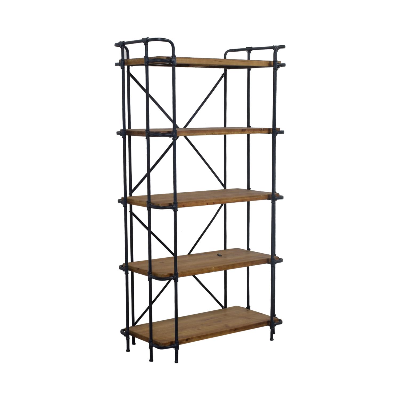 Joss & Main Joss & Main Industrial Etagere Bookcase Storage