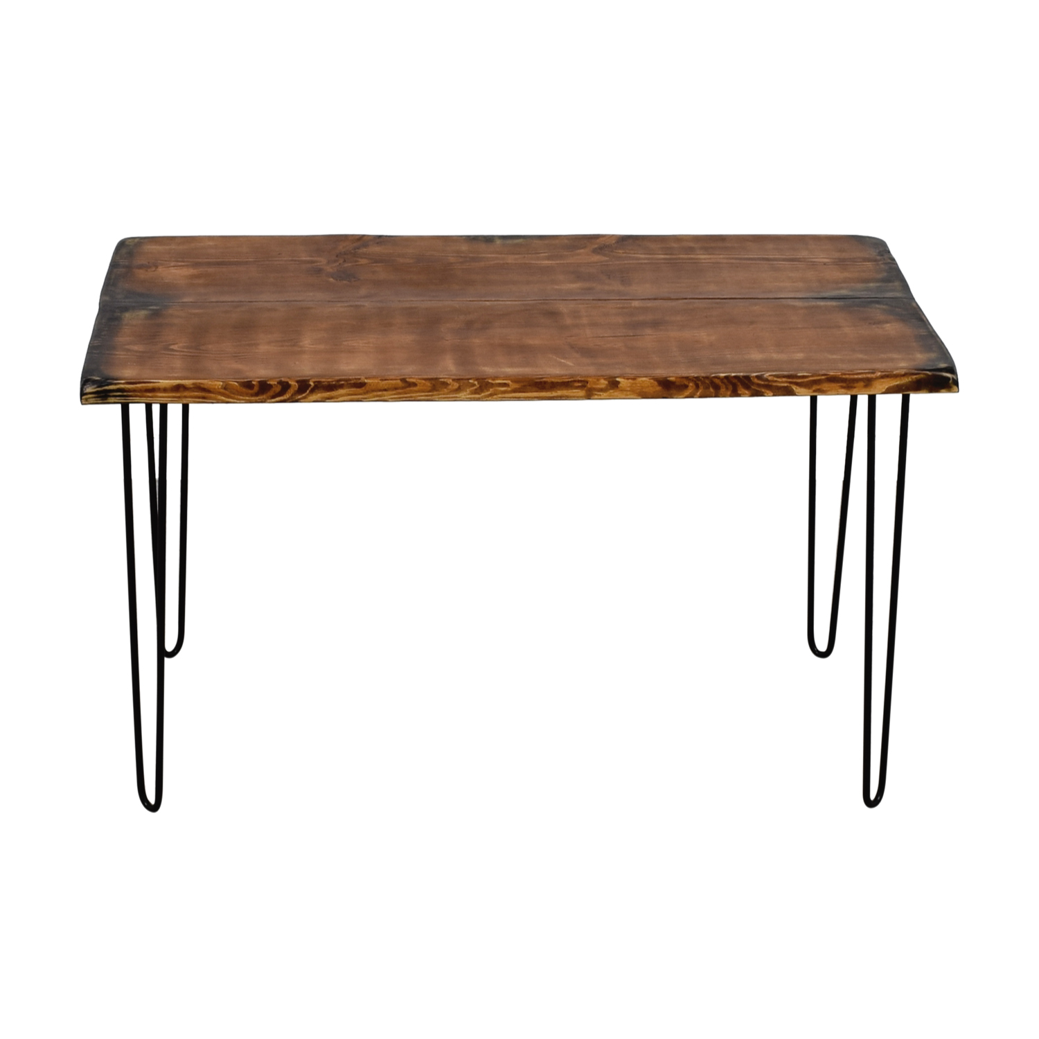 Umbuzo Umbuzo Rustic Shou Sufi Ban Handcrafted Wood Desk with Hairpin Legs on sale