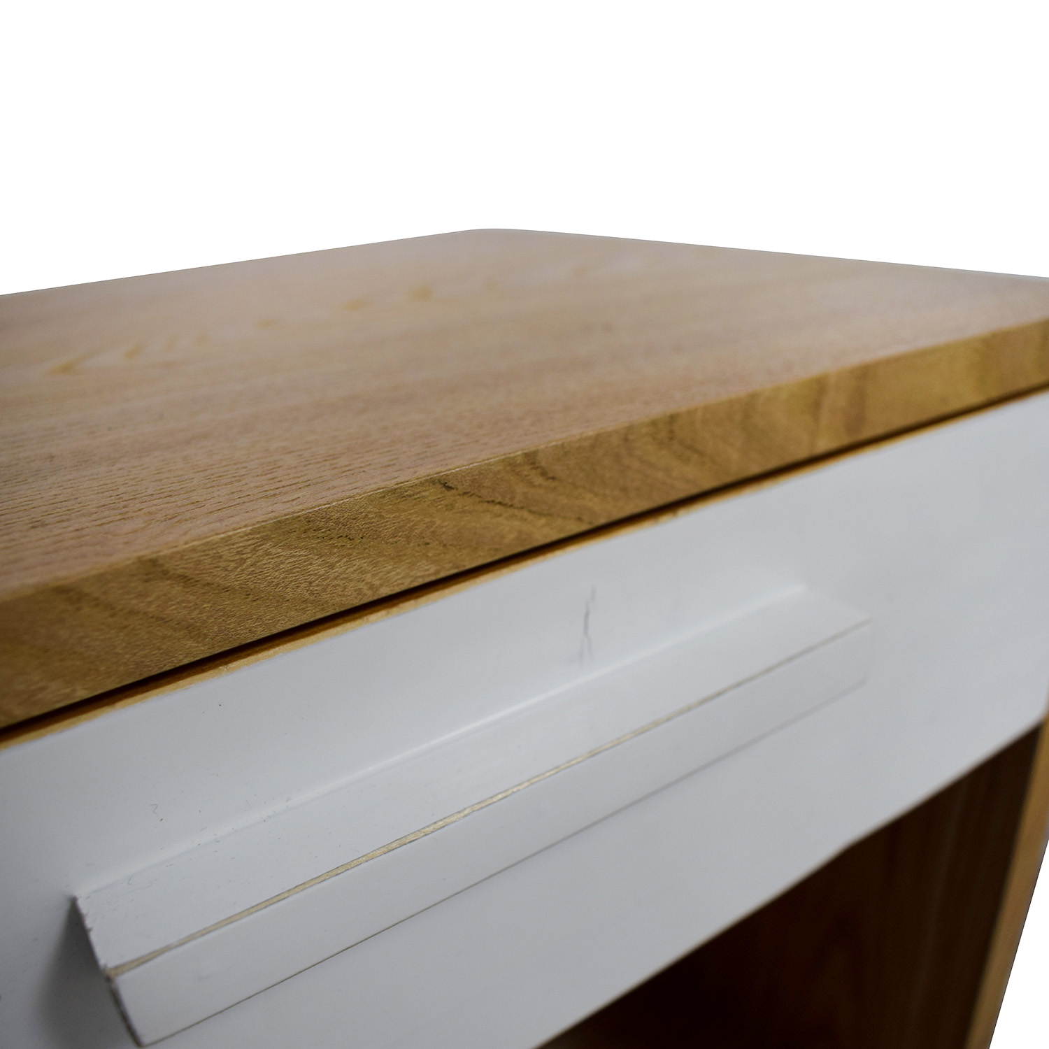 buy Joss & Main Natural and White Single Drawer End Table Joss & Main
