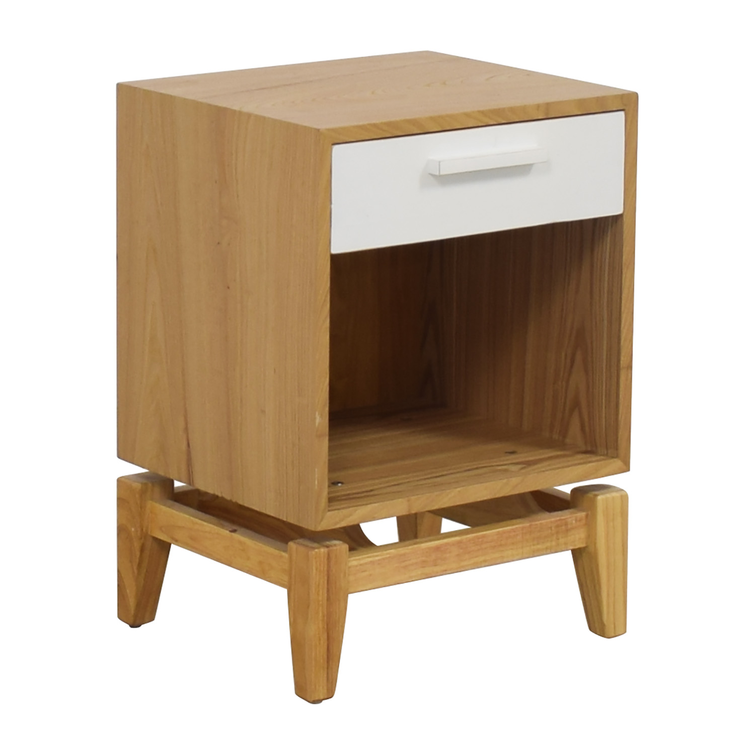 72 off joss main joss main natural and white single drawer end table tables. Black Bedroom Furniture Sets. Home Design Ideas