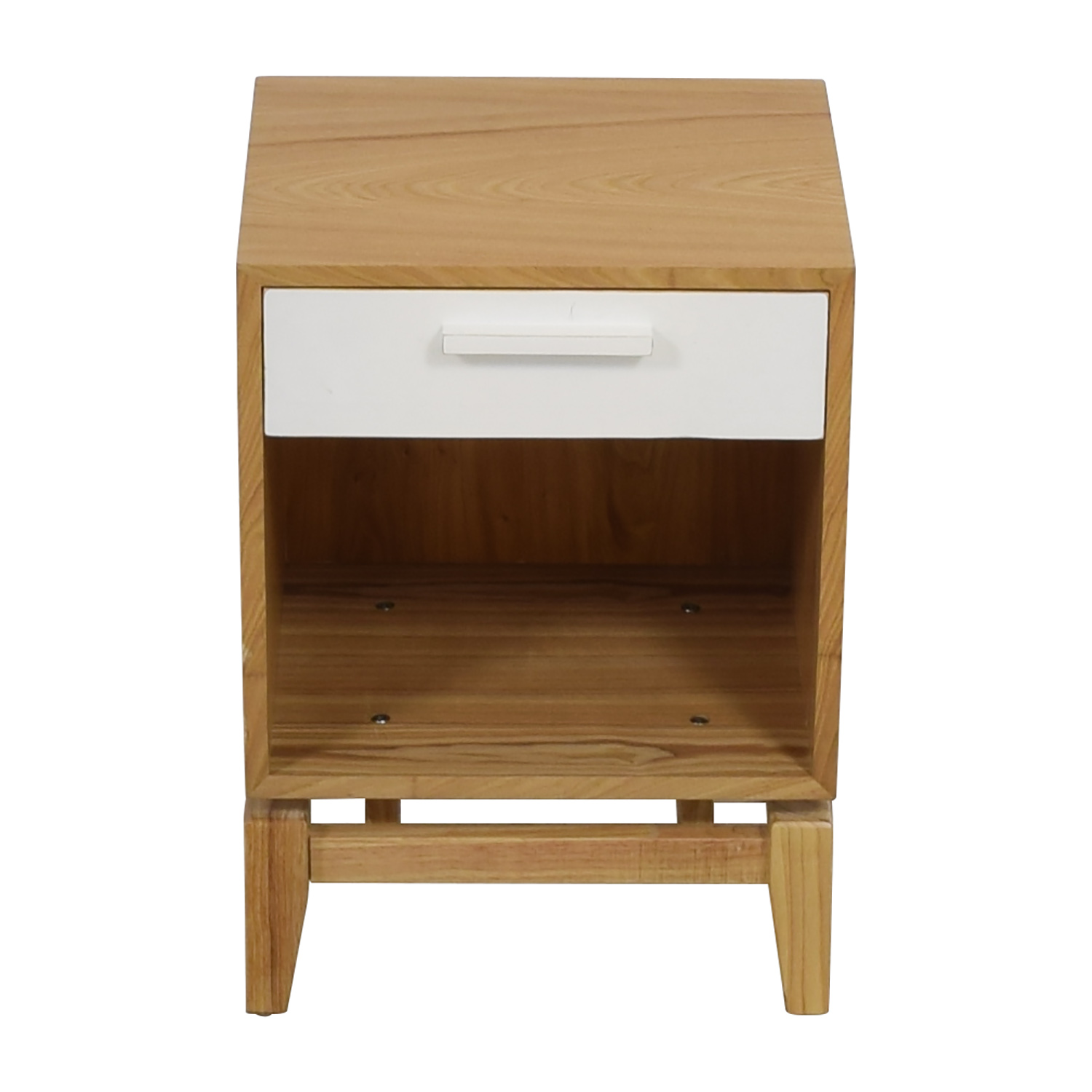 Joss & Main Natural and White Single Drawer End Table sale
